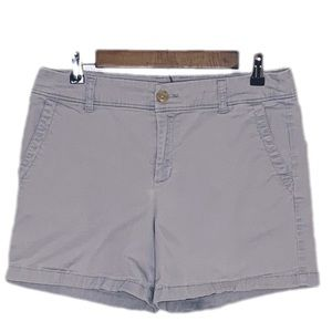 Liz Claiborne Gray Chino Flat Front Shorts Size 6